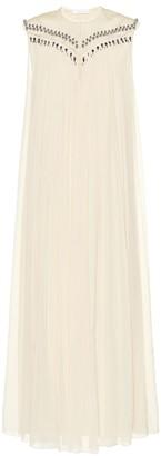 Chloé Embellished silk midi dress