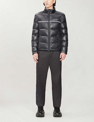 HUGO High-neck quilted shell jacket