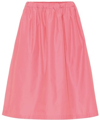 Plan C Cotton-blend midi skirt