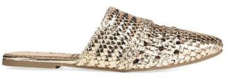 Sam Edelman Natalya Flat Metallic Leather Mules