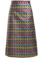 Gucci Velvet G midi skirt
