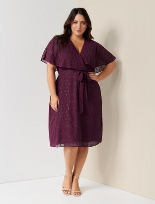 Forever New Katie Curve Cape Wrap Dress - Plum - 16