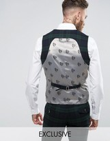 Noose & Monkey Super Skinny Suit Vest In Check