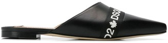 DSQUARED2 Logo Pointed Mules