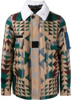 Valentino Navajo print jacket - men - Cotton/Sheep Skin/Shearling/Polyamide/Virgin Wool - 46