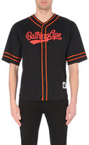 A Bathing Ape Logo-embroidered Baseball Shirt