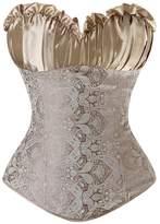 TX-Originality Vintage Gothic Bridal Bustier Fancy Women Corset Top Plus Size (L, )