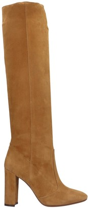 L'Autre Chose Boots In Leather Color Suede