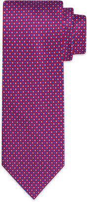 Stefano Ricci Men's Flower-in-Circle Geometric Print Tie