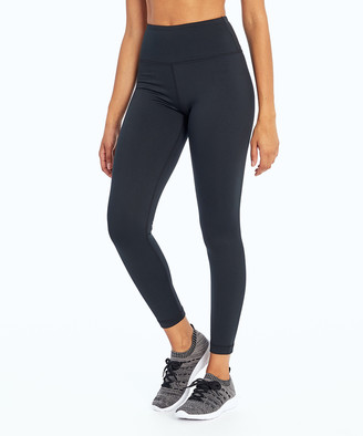 """Marika Women's Leggings BLACK - 27"""" Black Tek Fleece Leggings - Women"""