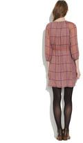 Madewell Silk peasant dress in retrogrid