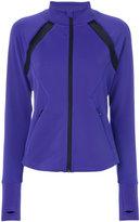 DKNY mesh detail jacket - women - Polyester/Spandex/Elastane - S