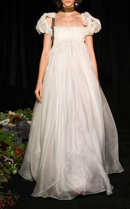 Rosalie Danielle Frankel Tucked Organza Empire Waist Gown