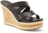 Women's Jimmy Choo 'Prisma' Leather Wedge Sandal