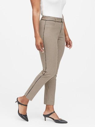 Banana Republic Curvy Sloan Skinny-Fit Washable Pant with Piping
