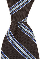 Daniel Cremieux Basket Stripe Traditional Silk Tie