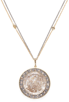 Moritz Glik Women's 18K Yellow Gold, Silver & 9.48 Total Ct. Champagne Diamond Pendant Necklace