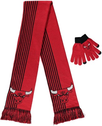Women's Red Chicago Bulls Gloves & Scarf Set