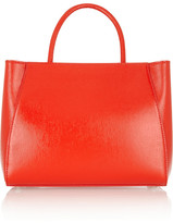 Fendi 2Jours small textured patent-leather shopper