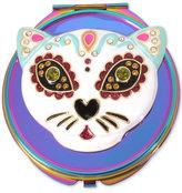 Betsey Johnson Oilslick-Tone Multi-Stone Cat Compact Mirror