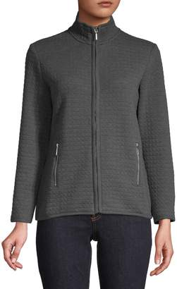 Karen Scott Petite Quilted Fleece Jacket