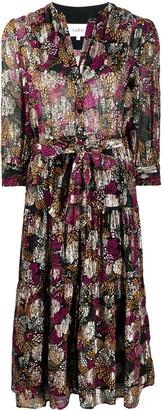 BA&SH Love floral-print shirt dress