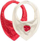 H&M 2-pack Triangular Scarves - White/strawberries - Kids