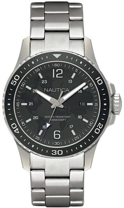 Nautica Mens Analogue Quartz Watch with Stainless Steel Strap NAPFRB007