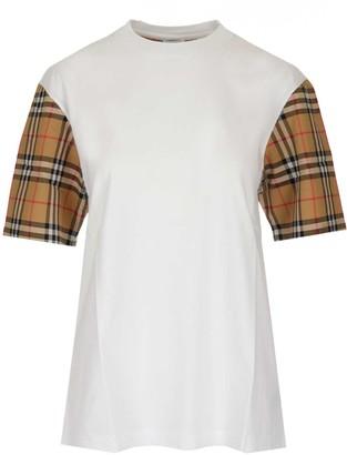Burberry Vintage Vintage Check Sleeve Crewneck T-Shirt