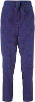 Tory Burch printed pants - women - Silk - 4