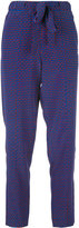 Tory Burch printed pants - women - Silk - 8