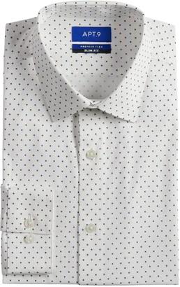 Apt. 9 Men's Slim-Fit Wrinkle-Resistant Stretch Dress Shirt