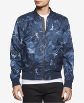 Calvin Klein Jeans Men's Surplus Floral Abstract-Print Bomber Jacket