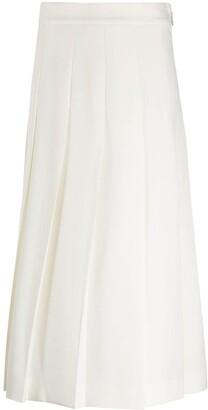 MSGM Box-Pleat Mid-Length Skirt