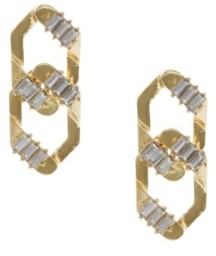 Christian Siriano New York Christian Siriano Gold Tone Interlocking Post Earrings