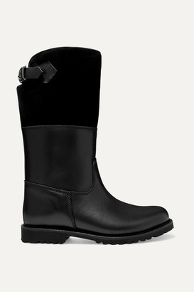 Ludwig Reiter Maronibraterin Shearling-lined Leather And Suede Boots - Black