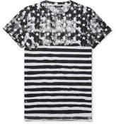 Balmain Slim-Fit Printed Cotton-Jersey T-Shirt