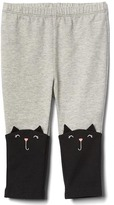 Gap Halloween cat stretch jersey leggings