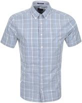 Gant Chambray Check Shirt Blue