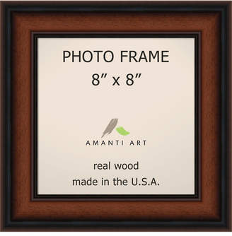 "Amanti Art Bella Noce Walnut 8"" X 8"" Opening Wall Picture Photo Frame"