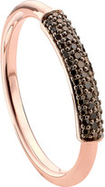 Monica Vinader Stellar 18ct rose gold-plated vermeil and champagne diamond ring