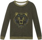 Kenzo Tiger Head Sweater (Toddler/Kid) - Green - 2A