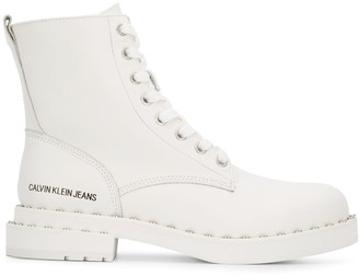 Calvin Klein Jeans studded lace-up boots