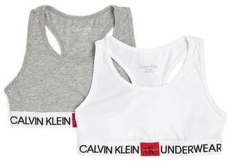 Calvin Klein Kids Pack Of 2 Minigram Bralettes (8-16 Years)