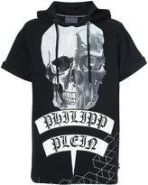 Philipp Plein printed short sleeved hoodie - men - Cotton/Polyester - L