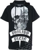 Philipp Plein printed short sleeved hoodie