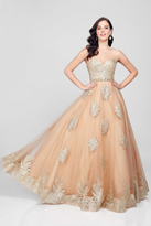 Terani Couture Luxurious Strapless Sweetheart A-line Gown with Emblellished Waist 1712P2890