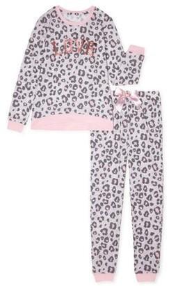 Sleep On It Girls Super Soft 2-Piece Pajama Set Sizes 7-16