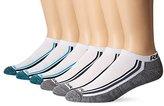 Reebok Men's 6 Pack Performance Low Cut Marle Footbed Sock White