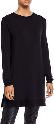 Majestic Filatures French Terry Long-Sleeve Crewneck Tunic
